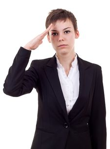Free Business Woman Saluting Stock Image - 16586921