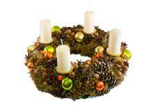 Free Christmas Wreath Royalty Free Stock Photo - 16587435
