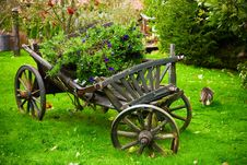 Decorated Cart Royalty Free Stock Photos