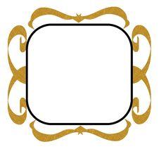 Gold Black Decorative Frame