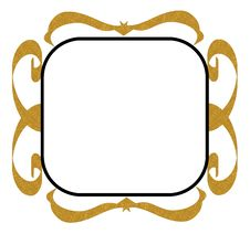 Gold Black Decorative Frame Stock Photos