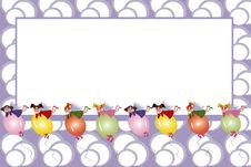 Free Frame:fairies Flying On A Balloons Stock Photography - 16588692