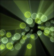 Green Background Circles Stock Image