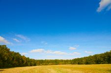 Free Field By Autumn. Royalty Free Stock Images - 16588959