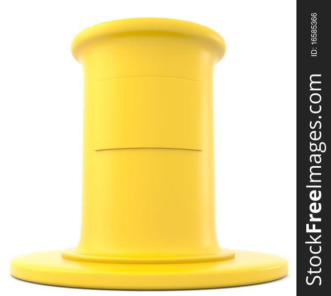 Yellow pedestal