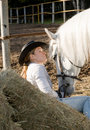 Free Young Woman With Her Horse Royalty Free Stock Photos - 16592188