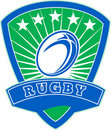 Free Rugby Ball Stars Shield Stock Photography - 16598802