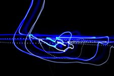 Free Blue Light In The Dark Stock Photography - 16591512