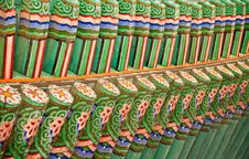Free Korean Palace Roof. Stock Photography - 16591942