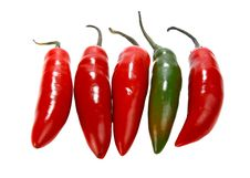 Free Red Hot Chili Peppers Stock Photography - 16592012