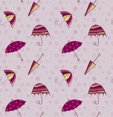 Free Umbrella Seamless Vector Background Royalty Free Stock Photography - 16592217