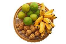 Free Orange Banana And Longan, In Basket Stock Photo - 16592470