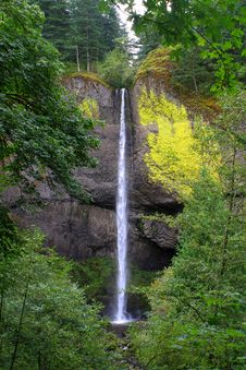 Free Waterfall In The Columbia River Gorge Stock Image - 16593871