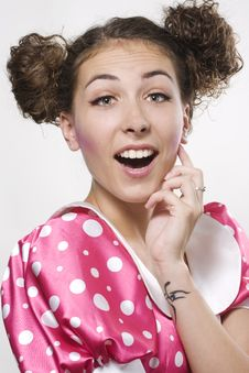 Free Woman Making A Funny Face Stock Photos - 16594063