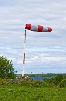 Free Airfield Flag On Kizhi Island Royalty Free Stock Photo - 16594265