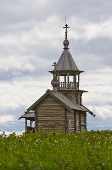 Orthodox Wooden Chapel Of Holy Face In Kizhi Stock Images