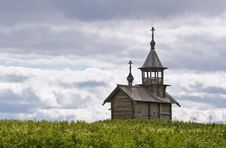 Orthodox Wooden Chapel Of Holy Face In Kizhi Stock Photos
