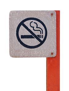 No Smoking Metal Sign Stock Photo