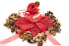 Heart With Rose Royalty Free Stock Photography
