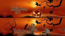 Free Hallowen Banners Stock Image - 16595131