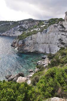 Zakynthos Coast Royalty Free Stock Photography