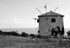 Free Windmill In Zakynthos Royalty Free Stock Photography - 16595997