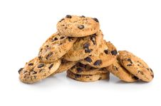 Free Stack Of Chocolate Chip Cookies Isolated Royalty Free Stock Images - 16596029
