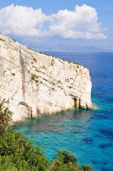 Zakynthos Coast Stock Photo