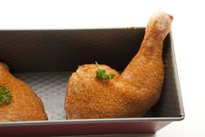 Free Chicken Thigh In The Back Form Stock Image - 16596121