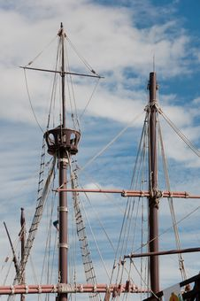 Free Mast Of The Replica Of A Columbus S Ship Stock Photos - 16596203