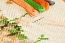 Free Embroidery. Royalty Free Stock Photo - 16596425