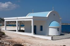 Free Greek Church On The Beach Stock Images - 16597254