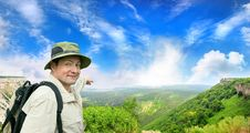 Free Tourist On A Country Road Stock Photo - 16597280