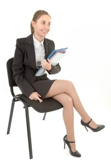Free Business Woman With Papers Royalty Free Stock Photo - 16597365