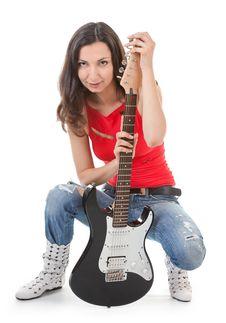 Free Girl With A Guitar Stock Photos - 16597393
