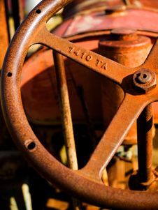 Free Tractor Steering Wheel Royalty Free Stock Photos - 16599778