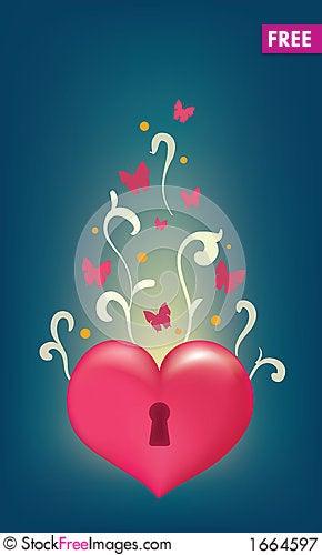 Free Unlocked Heart Royalty Free Stock Photography - 1664597