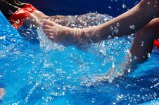 Free Kicking In Kiddie Pool Royalty Free Stock Photo - 1660215