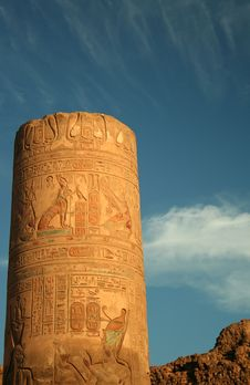 Hieroglyphic Column Royalty Free Stock Images