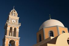 Free Santorini, Greece, Churc, Belltower Stock Photo - 1662360