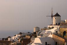 Traditional Greek Village, Oia, Santorini Royalty Free Stock Images