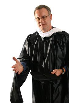 Free Professor In Graduation Attire Stock Images - 1663354