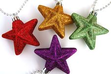 Free Colorful Christmas Stars Royalty Free Stock Photos - 1664588