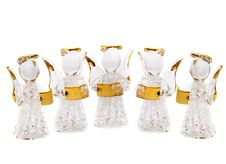 Free Five Figurine Christmas Angels Stock Photography - 1666052