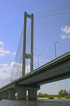 Free Southern Bridge In Kyiv Stock Image - 1666781