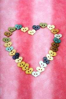 Heart Buttons Royalty Free Stock Photography