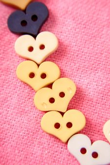 Heart Buttons Royalty Free Stock Photos