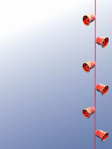 Bells 3D. Royalty Free Stock Images