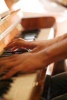 Plays On Piano Royalty Free Stock Photos