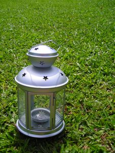 Silver Christmas Lamp Royalty Free Stock Photography